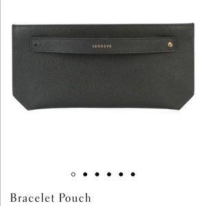 Senreve Black Leather Pouch/Clutch